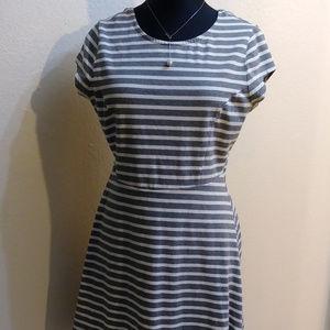 Old Navy Scoop Back Striped Dress L